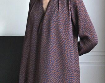 nehru collar polka dots tunic dress