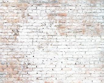 5ft.x7ft. Luster Brick Wall Photography Backdrop - Brick Vinyl Backdrops