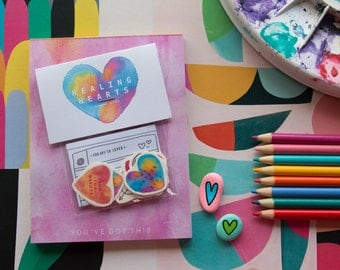 Healing Hearts - Temporary Tattoos | Self Care | Mental health tool | Skin Stickers | Small gift
