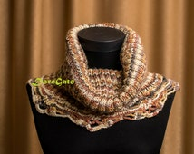 Cowl pattern, Knit cowl with crochet trim PATTERN, Crochet & knit cowl pattern, knit pattern, lace crochet pattern, Instant Download /1014/
