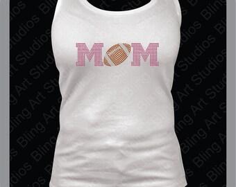 Rhinestone Transfer, Football Mom Rhinestone Transfer, Football Mom Transfer, Rhinestone Iron On Transfer, Iron On Design, DIY #634