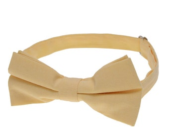 Wedding Bowtie.Lemon Bowties.Mens Cotton Bowties.Bow Tie for Party