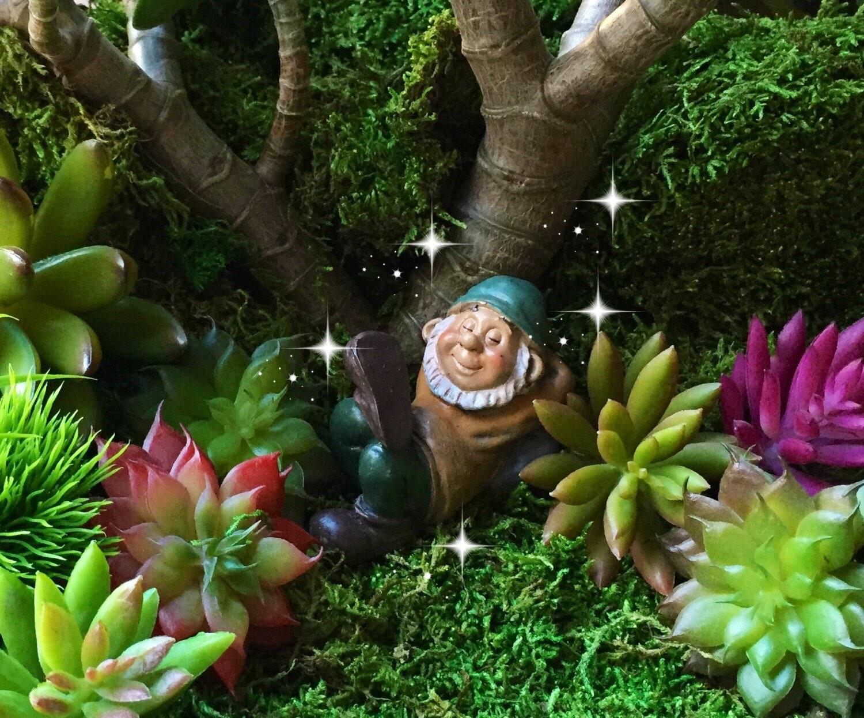 Gnome Garden: Fairy Garden Gnome Miniature Garden Gnome Mini Gnome Small