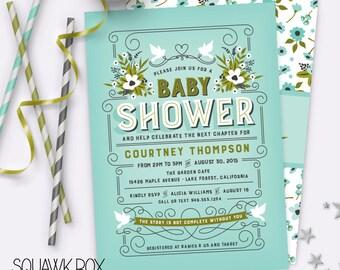 Storybook Baby Shower Invitation – Printable Baby Shower Invitation by Squawk Box Studio