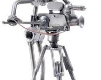 Movie Director Metal Sculpture