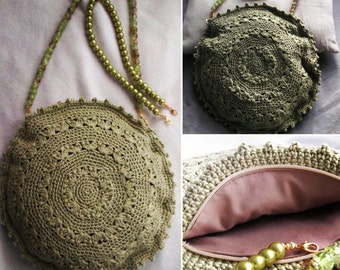 Handmade crochet handbag, crochet purse, shoulder bag, Women handbag, vintage bag.