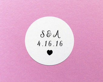 Custom Wedding Sticker, Wedding Date Stickers, Save The Date Stickers, Personalized Wedding Sticker, Envelope Seals, Wedding Invite Labels