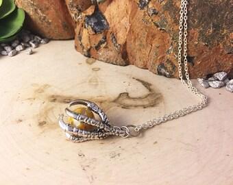 silver claw necklace, claw charm necklace, talon charm necklace, claw jewelry, silver claw, silver talon, claw necklace, claw, talon, charm