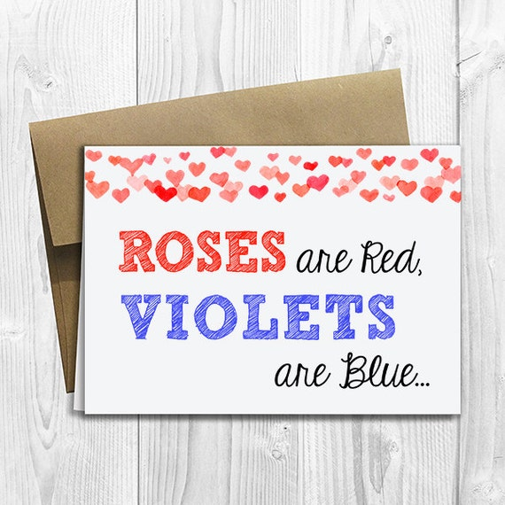 PRINTED Roses are Red Violets are Blue We're Expecting