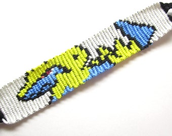 SALE Manectric Pokemon Bracelet, Manectric Friendship Bracelet, Nerd Bracelet, Pokemon Anime Bracelet, Video Game Bracelet, Nintendo, Geek