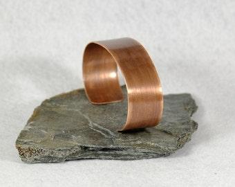 Thin Hammered Copper Bracelet, Copper Cuff, Adjustable Bangle, Antiqued Patina Finish