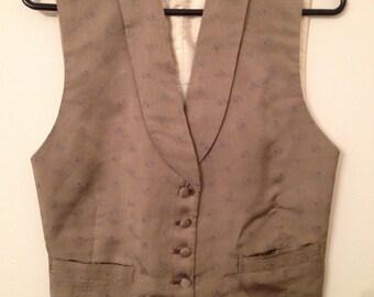 Silk Paisley Vest