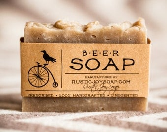 Beer  Soap, soap for men, beard soap, mens soap, gift for men, natural soap, homemade soap, gift for boyfriend