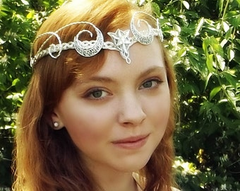 Crescent Moon Evenstar Tiara Circlet Crown