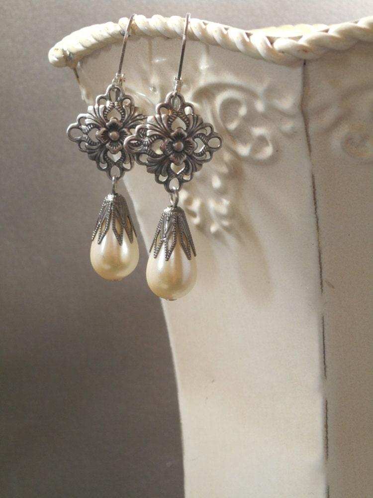 titanic pearl earrings edwardian jewelry vintage by