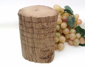 Cypress Coaster Set | Wood Coaster Set | Wooden Drink Coasters | Wood Barware | Log Slices