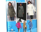 2000s Project Runway Coat or Jacket Sewing Pattern Simplicity 2508 Womens Lined Princess Seams Winter Outerwear Size 14-22 Bust 36-44 UNCUT