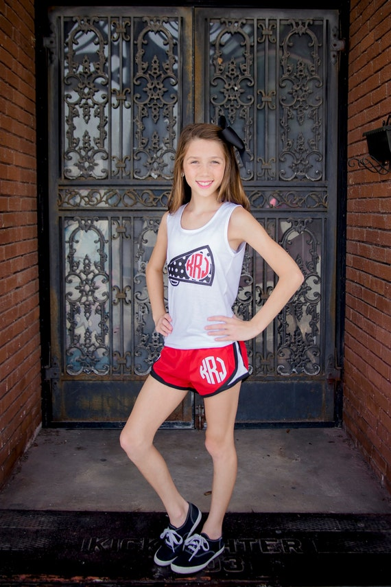 Monogram Running Shorts Athletic Shorts Women Girls Monogrammed Shorts Embroidered Athletic Gym Cheer