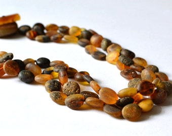 Raw Amber Necklace - Natural Earthy Jewelry - Real Amber Jewelry - Amber Stone
