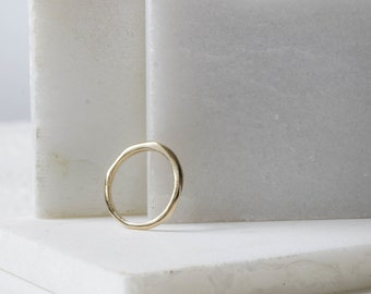 14k Gold Band Faceted Ring Gold Wedding Band Simple Wedding Ring Gold Faceted Ring