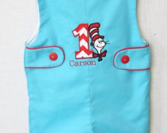 Cat in the Hat Birthday Party | Baby Boy Clothes | Cat in the Hat Birthday Outfits | 1st Birthday Outfit Boy| 2nd Birthday Outfit Boy 292404
