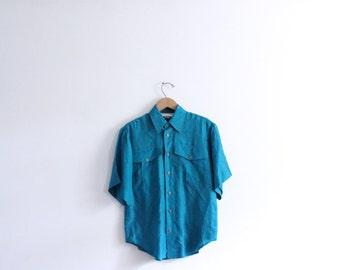 Jewel Toned Silk 90s Blouse