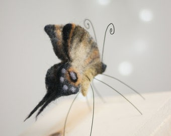 Needle Felted Butterfly - Tiger Butterfly - Needle Felting Butterfly - Art Doll Butterfly  - Needle Felted Animals  - Ooak Doll