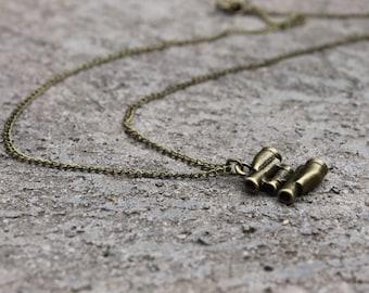 Binoculars Necklace // Bird Watching Necklace // Travel Necklace //Woodland Necklace // Antique Brass Necklace