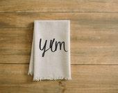 Yum Napkin, home decor, present, housewarming gift, tablewear, table scene, place setting, set the table, place mat