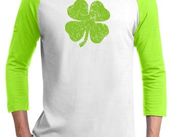 Youth Clover shirt, Lucky, St. Patrick's day, Lucky, luck of the Irish, green shirt,Shamrock