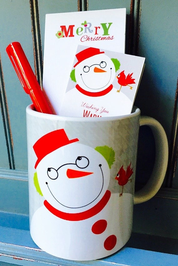 Christmas Mug Gift Set Quick Ship Coffee Mug Holiday