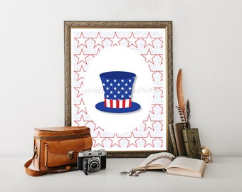 July Fourth 4th July 4th July Decor July 4th Decor July 4th Decoration Patriotic Printable Patriotic Decor 4th of July Digital Download 0157