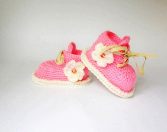 Crochet baby booties, Pink shoes newborn girl, Cute baby booties, Newborn knitted booties, hand knit baby girl clothes