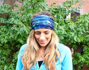BUY 2 GET 1 FREE!!! Yoga Headband, thunder sky, Workout Headband, Jersey Headband, Turban headband, Wide Headband, Running Headbandd