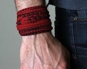 Red Bracelet, Maroon Bracelet, Boyfriend Gift, Boyfriend, Mens Bracelet, Gift For Him, For Him, For Men, Gift for Men, Man Gifts, Mens