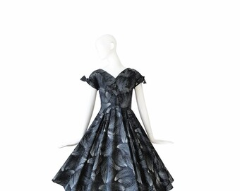 1950s Dress • 50s Cocktail Dress • Evening Party • Small S
