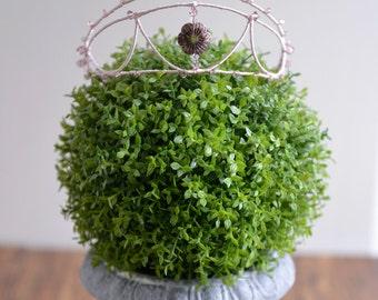 MISS Bella - simple light purple pink wedding crown, swarovski crystal hair vine