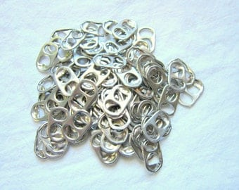 Aluminum Can Tabs, 100 Can Tabs, Soda Can Tops, Craft Supplies.