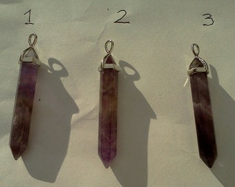 Amethyst Double Terminated Pendant