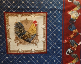 Roosters by Audrey Jeanne Roberts for In The Beginning Fabrics