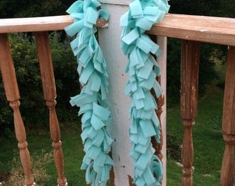 Mint Green Fringed Fleece Scarf School Spirit Scarf Mint Green Scarf