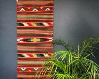 Vintage Handwoven Peruvian runner/rug