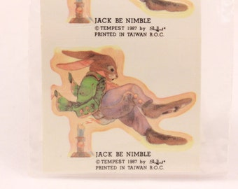 Vintage Tempest Jack be Nimble. 8 Sealed Stickers
