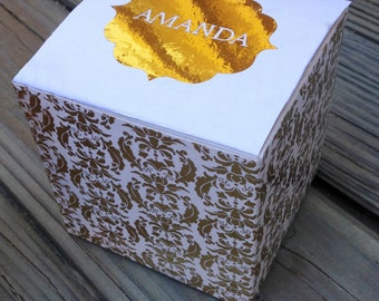 Fancy Metallic Gold Foil Balloon Pop Kit for Bridesmaid/Maid of Honor Proposal Gift