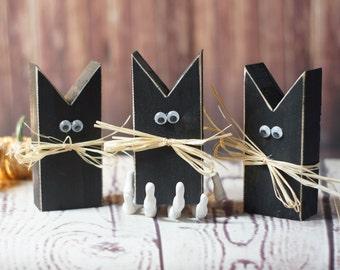 mini primitive black cat halloween decor halloween decorations haunted house decor halloween - Rustic Halloween Decorations