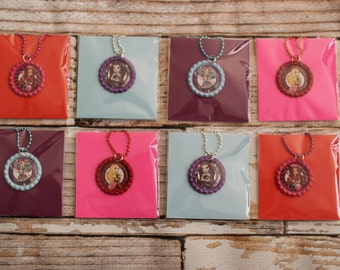 Ever After High Bottle Cap necklaces