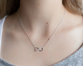 Infinity Necklace in Sterling Silver - Friendship Necklace