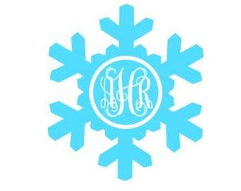 Snowflake Monogram digital download cutting file for cutting machines - SVG DXF EPS ps Studio3 Studio (monogram font sold separately)