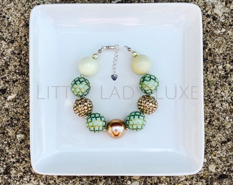 Mint and Gold Luxe Bracelet