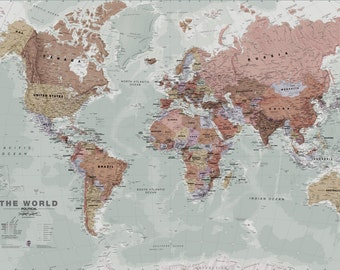 Wall Map Art World Executive